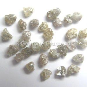natural brown raw uncut loose diamond beads