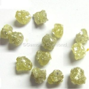 Yellow Rough Uncut Loose Diamond Beads