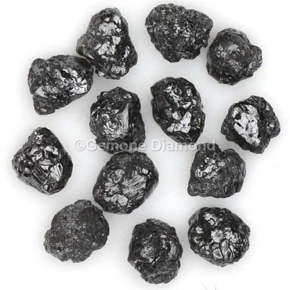 Black Diamond Beads In 2 00 Carat Rough Diamonds For Bracelet