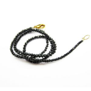 Black Diamond Faceted Beads Necklace