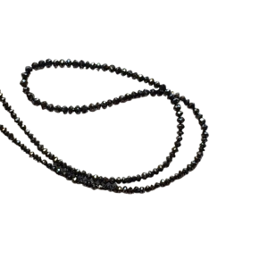 faceted black diamond beads necklace