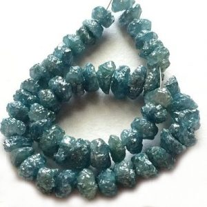 uncut rough blue diamond bracelet