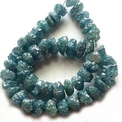 uncut rough blue diamond bracelet