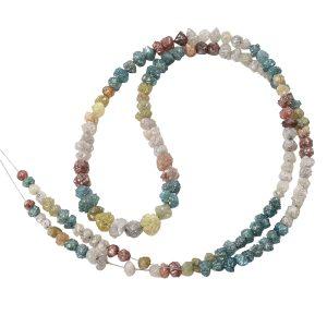 Multi Rough Diamond Bead Bracelet