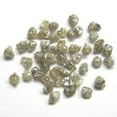 natural brown rough uncut loose diamonds drilled beads