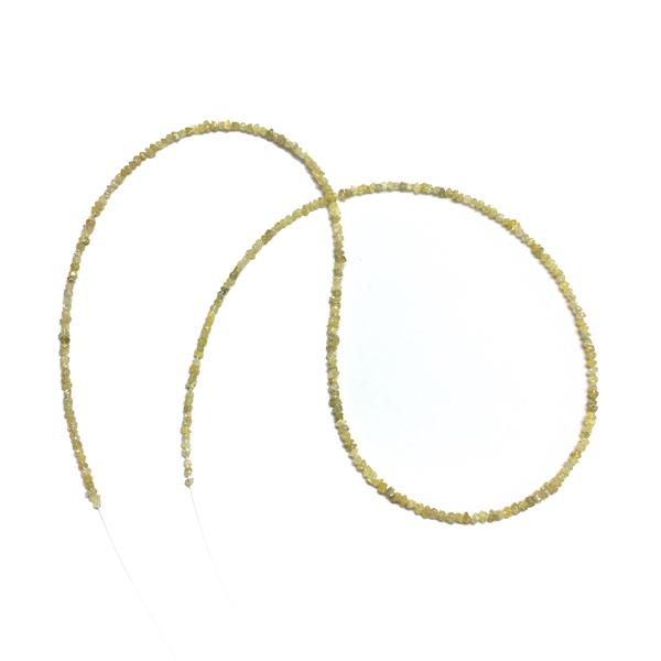 yellow uncut diamond beads