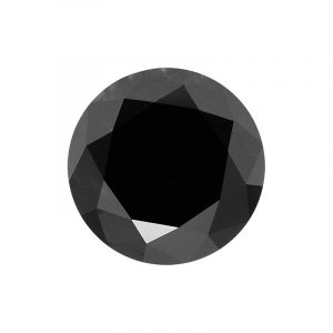 Round cut black diamond