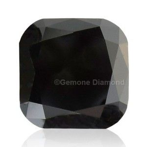 cushion cut black diamond