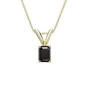 Yellow Gold Emerald Pendant