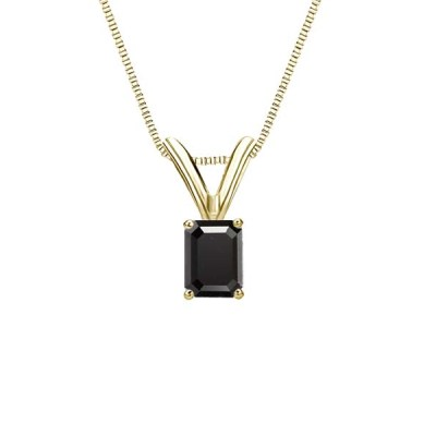 Emerald cut diamond pendant online at the best prices ever shop now beautiful 14k yellow gold emerald cut diamond pendant online in 150 carat weight for your soulmate natural black diamond 1 carat yellow gold emerald cut aloadofball Image collections