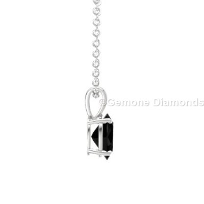 eye catching oval shape solitaire pendant