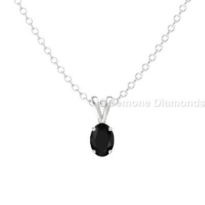 White gold oval cut diamond pendant for sale online at fair prices 1 carat beautiful white gold oval cut diamond pendant with natural black diamond in the center 050 carat appealing tiny oval cut diamond pendant with aloadofball Gallery