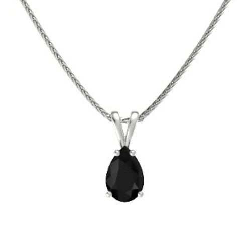Pear cut diamond solitaire pendant necklace from gemone diamonds 250 carat natural black pear cut diamond solitaire pendant necklace in 14k white gold natural black diamond 150 carat nice pear cut diamond necklace aloadofball Images