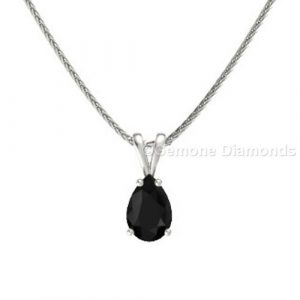 nice pear cut solitare pendant