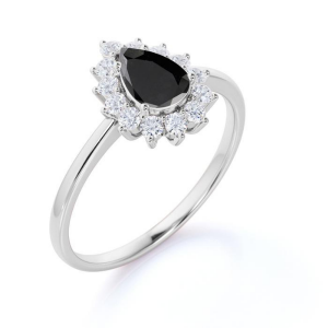 pear white gold engagement ring