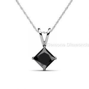 princess shaped diamond pendants