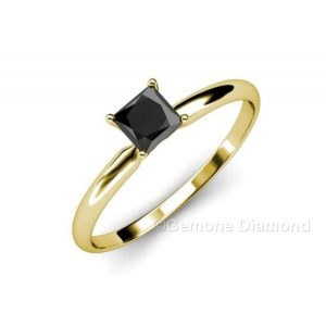 princess cut 2 carat natural black diamond