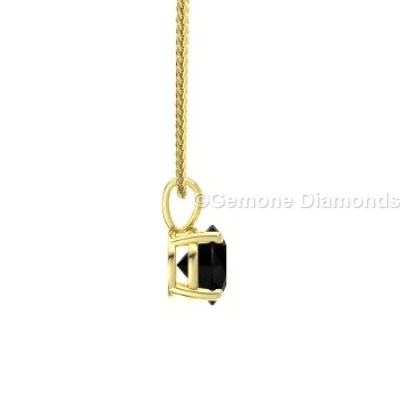 nice natural black diamond round shape pendant