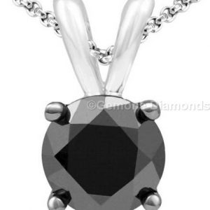 solitaire diamond necklace pendant