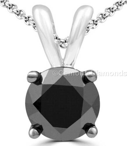 Solitaire diamond necklace pendant in 14k white gold for sale online 2 carat beautiful natural solitaire diamond necklace pendant crafted with 14k white gold 150 carat beautiful natural black diamond necklace pendant crafted aloadofball Choice Image