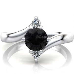 twisted black diamond ring