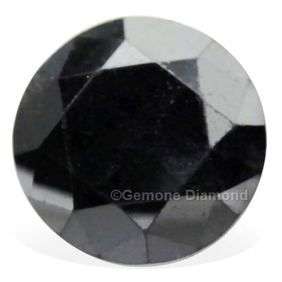 loose round black diamond stone