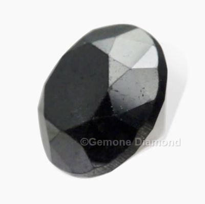 Round Diamond Solitaire Jet Black Color In 3 Carat For