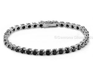 black diamond tennis bracelet white gold