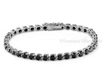 14 40 Carat Black Diamond Tennis Bracelet White Gold In 14k 6 52 Gold9 50 On