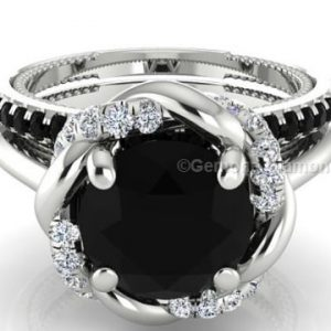 engagement rings and wedding band sets