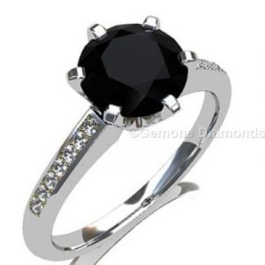 pretty black diamond engagement rings