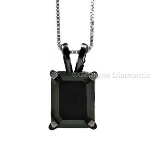 black emerald diamond pendants