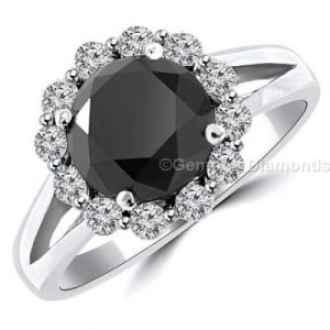 lovely halo engagement ring