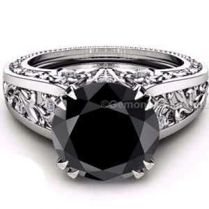 claw prong diamond engagement ring