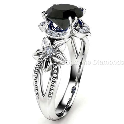 engagement details rings nature lover zeghani bridal