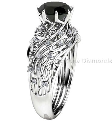 jeulia sterling cut round nature product rings jewelry engagement ring silver inspired