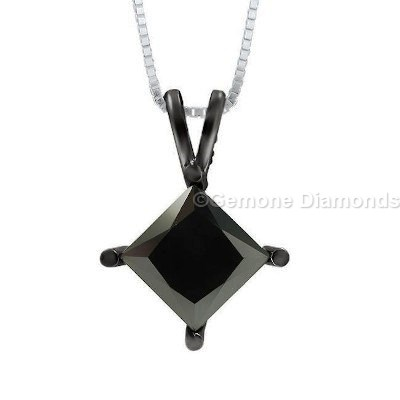 princess cut diamond solitaire pendants