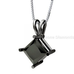 princess cut diamond pendants