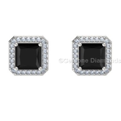 Black Halo Diamond Earrings Archives Gemone