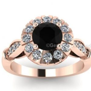 14k rose gold engagement rings