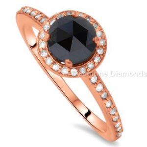 rose cut black diamond engagement rings
