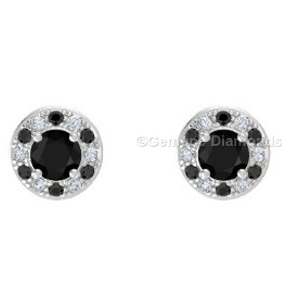 white gold halo earrings