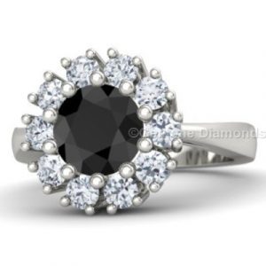 2 carat halo engagement ring