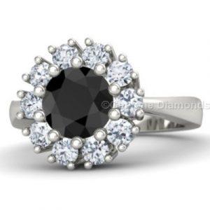 beautiful 2 carat halo ring
