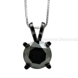 round diamond solitaire pendants