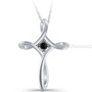 cross pendant with 14k white gold