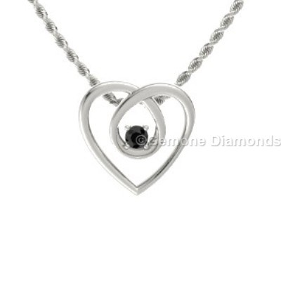 eternal heart-shaped pendant