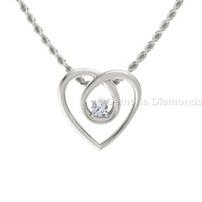 eternity heart necklace pendant