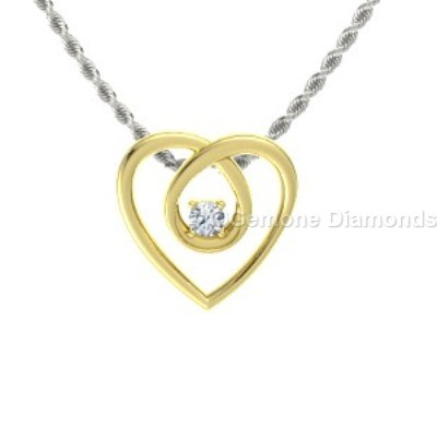 yellow gold diamond eternity pendant