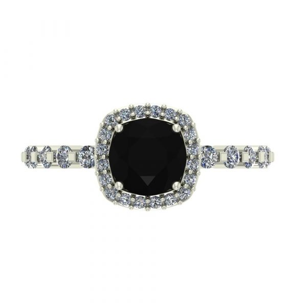 black diamond white gold engagement ring